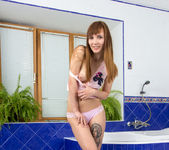 Aria Bella hairy teen taking a bath 6