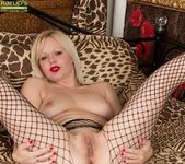 Sophie May - blonde mature in fishnets 24