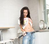 Dominika Dark posing in the kitchen 3