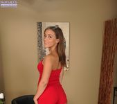 Karter Foxx taking off her red dress and spreading her pussy 2