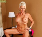 Lexy Cougar - short haired mature with fake tits 15
