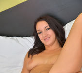 Felicia Kiss - spreading her pussy on the bed 17