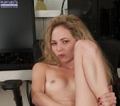 Angel Smalls pulling her pussy lips apart 19