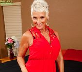 Lexy Cougar - short haired mature getting naked 3