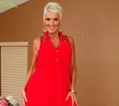 Lexy Cougar - short haired mature getting naked 4