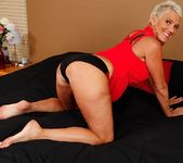 Lexy Cougar - short haired mature getting naked 5