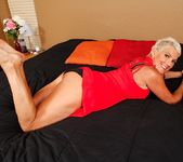 Lexy Cougar - short haired mature getting naked 6