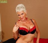 Lexy Cougar - short haired mature getting naked 8