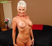 Lexy Cougar - short haired mature getting naked 12