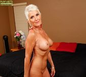 Lexy Cougar - short haired mature getting naked 13