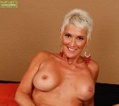 Lexy Cougar - short haired mature getting naked 18