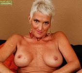 Lexy Cougar - short haired mature getting naked 19