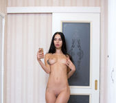 Veronica A - Tall & Thin Brunette Teen getting naked 10