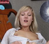 Teen blonde Olive spreading & fingering her pussy 16