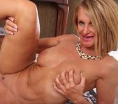 Older mature Mason Vonne spreading her legs 16