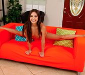 Lucy Doll spreads her pussy on the sofa 11