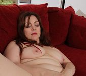 Chubby Ember Rayne playing with her vibe 12