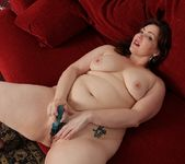 Chubby Ember Rayne playing with her vibe 20