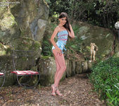 Lorena Garcia outdoors dildo 2