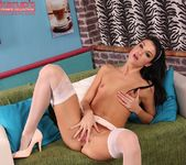 Penelope - stockings & fingers in her pussy 12