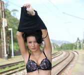 Vanessa Decker - railway nakedness 3