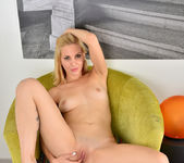 Candy Sweet getting undressed & spreading 16