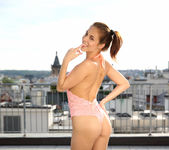 Antonia Sainz naked on the rooftop 2