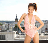Antonia Sainz naked on the rooftop 3