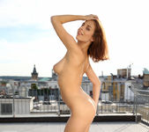 Antonia Sainz naked on the rooftop 13