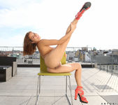 Antonia Sainz naked on the rooftop 19