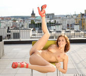 Antonia Sainz naked on the rooftop 20
