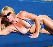 Ginger - tight mature babe sunbathing 3