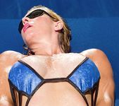 Ginger - tight mature babe sunbathing 14
