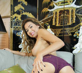 Melissa Moore - hot girl undresses and shows her pussy 15