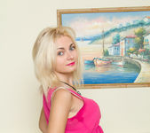 Milana Little - blonde playing with her vibrator 4