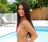 Lucy Doll - getting naked poolside 3