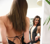 Kirra - dildoing in front of the mirror 7