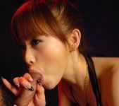 Miina Yoshihara Japanese model like sucking her guy's cock 13