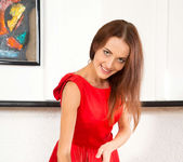 Nikka - date night red dress & underwear 2