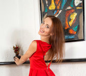 Nikka - date night red dress & underwear 3