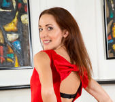 Nikka - date night red dress & underwear 6