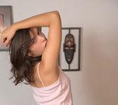Eliza Gardenia - thin brunette teen getting naked 2