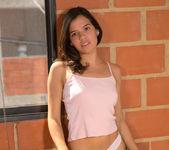 Eliza Gardenia - thin brunette teen getting naked 5