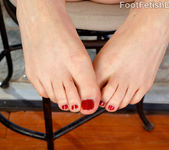 Tina Kay getting her feet loved 4