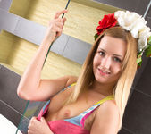Nicola - undressing for a bath 5