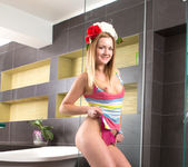 Nicola - undressing for a bath 7