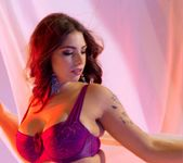 April's big boobs and Purple lingerie - Spinchix 4