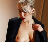 Millie's Black moods in her grey office - Spinchix 8
