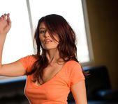 Christine Paradise Strips Off Her Orange Shirt 8