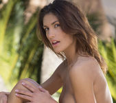 August Ames Takes Off Her Clothes In The Warm Outdoors 12